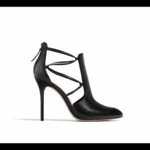 Zara | Black Genuine Leather Ankle Booties 40
